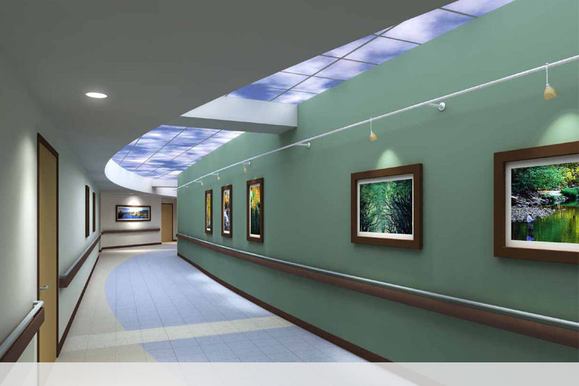Custom Luminous SkyCeiling at Community North Hospital